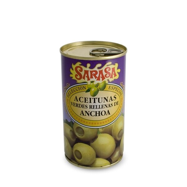 Anchovy-stuffed green olives