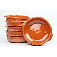 Terracotta dish 18 cm. Leather effect. 6 units