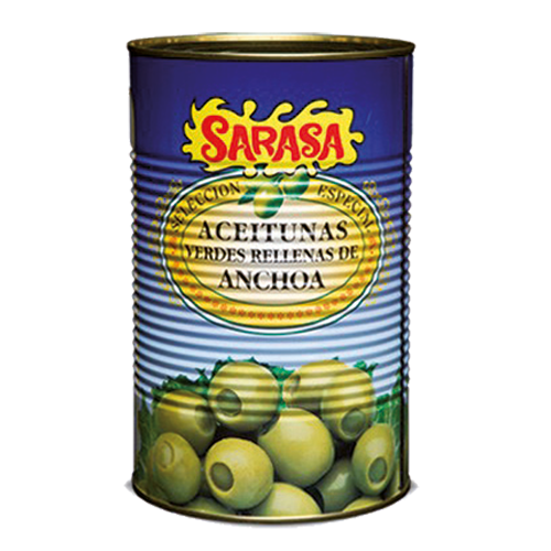 Stuffed green olives with anchovies 4.25kg