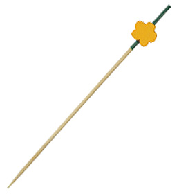 Cocktail luxury wooden skewer Flor 12 cm 200 units