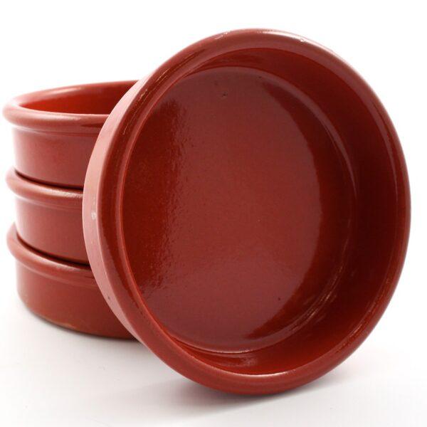 Terracota dish brown 11 cm 6 units
